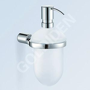 Eau New Trend Round Wall Mounted Chrome & Frosted Glass Bathroom Soap Dispenser - SALE