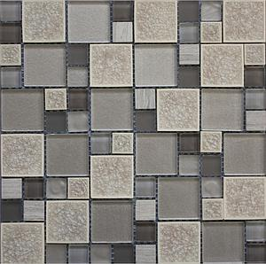 Mosaic Factory Leaf Grey 30x30